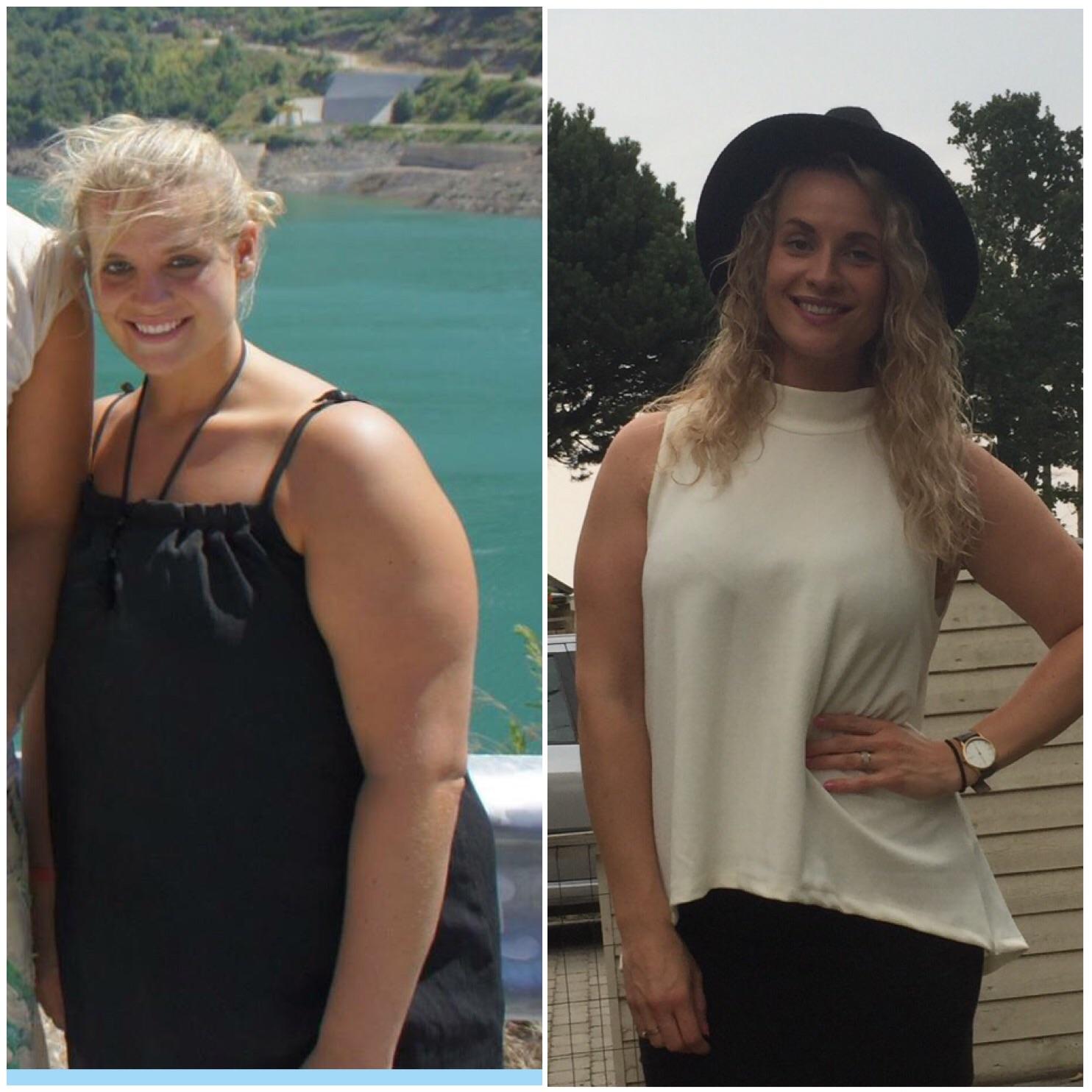 Transformation Vægttab Sundhed Før og efter Blogger Sund Livsstil Blog