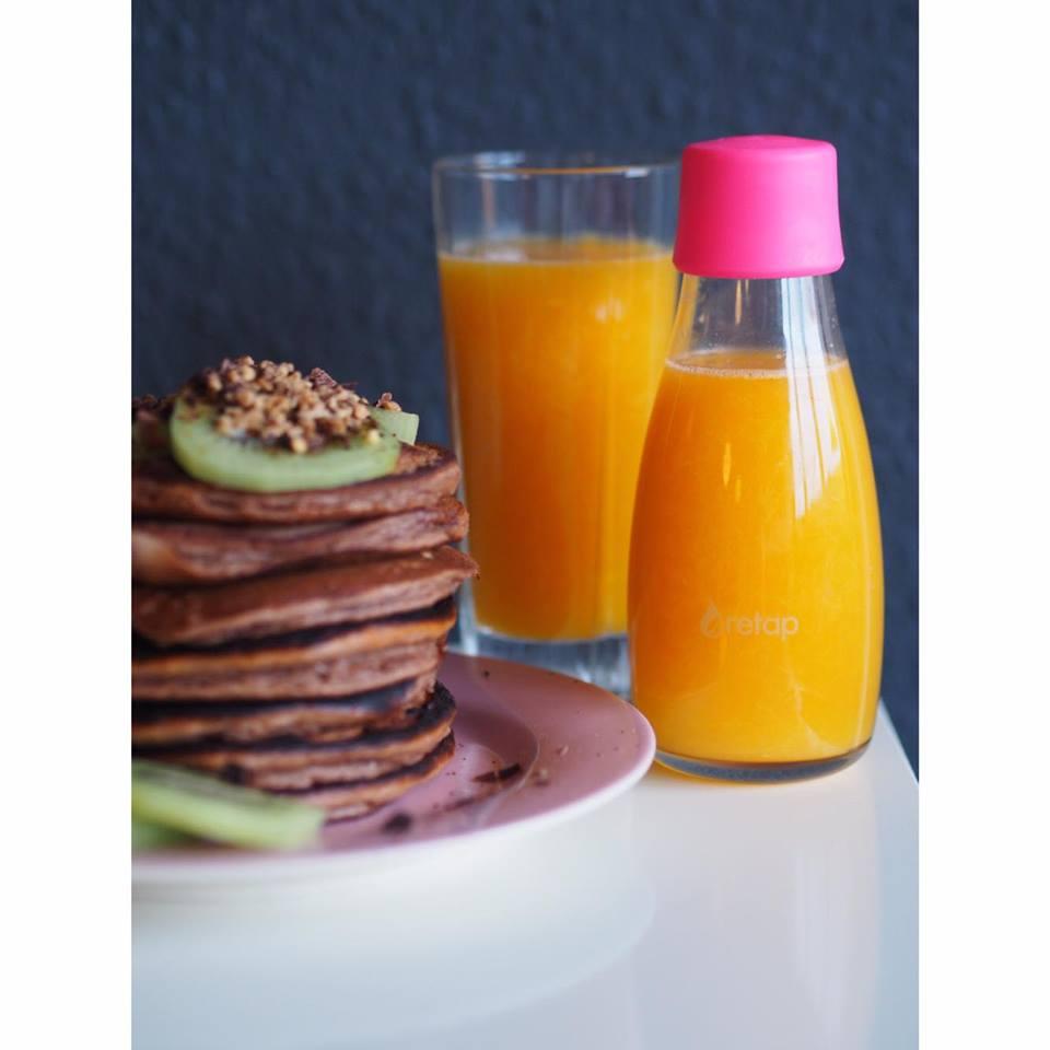 Protein Pandekager Pancakemix Juice Kiwi Nødder Bananpandekager Proteinpandekager Opskrift