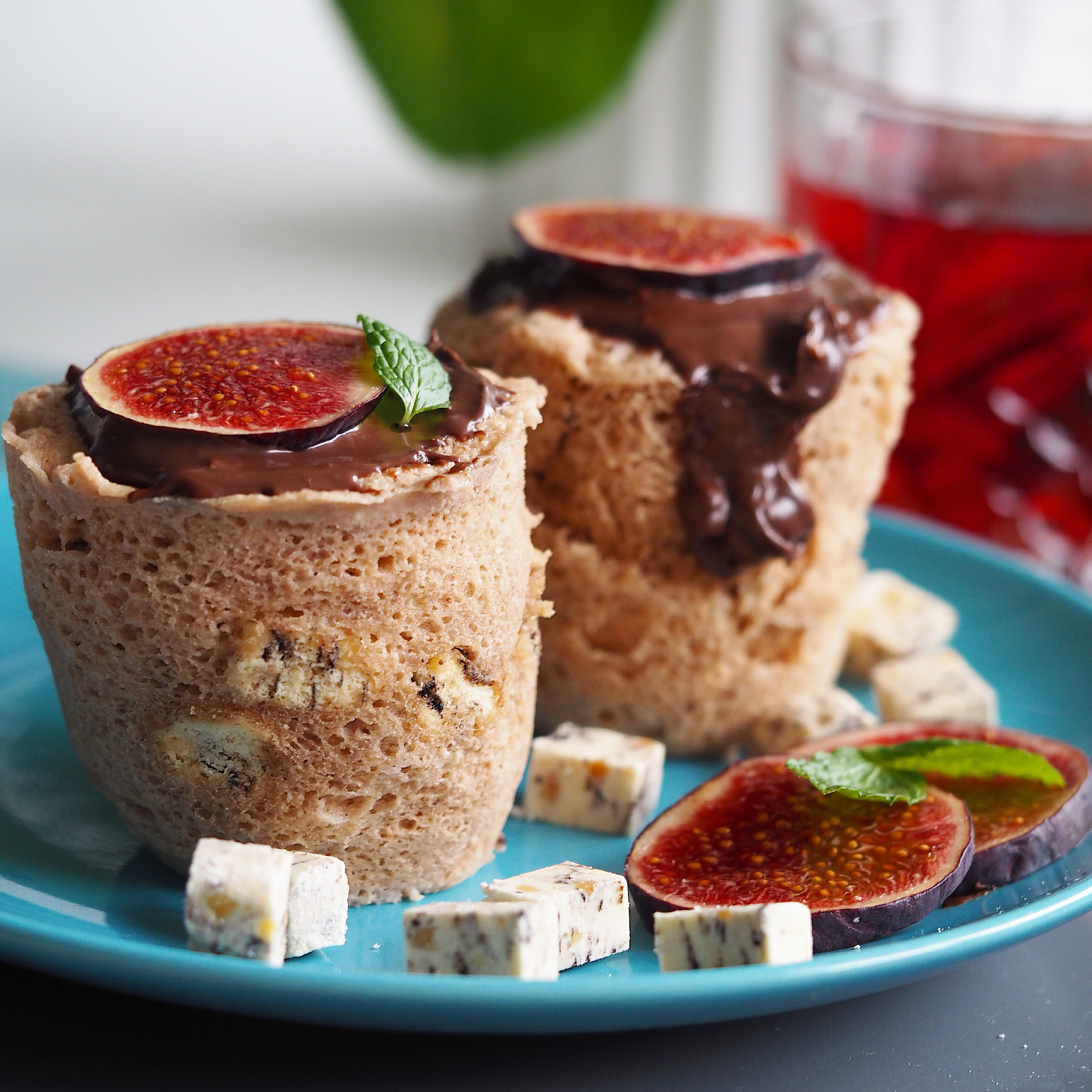 Mug cake Sukkerfri Nemmeste Kop kage Lækreste Svampet Svampede Blog Opskrift Kage på 3 minutter