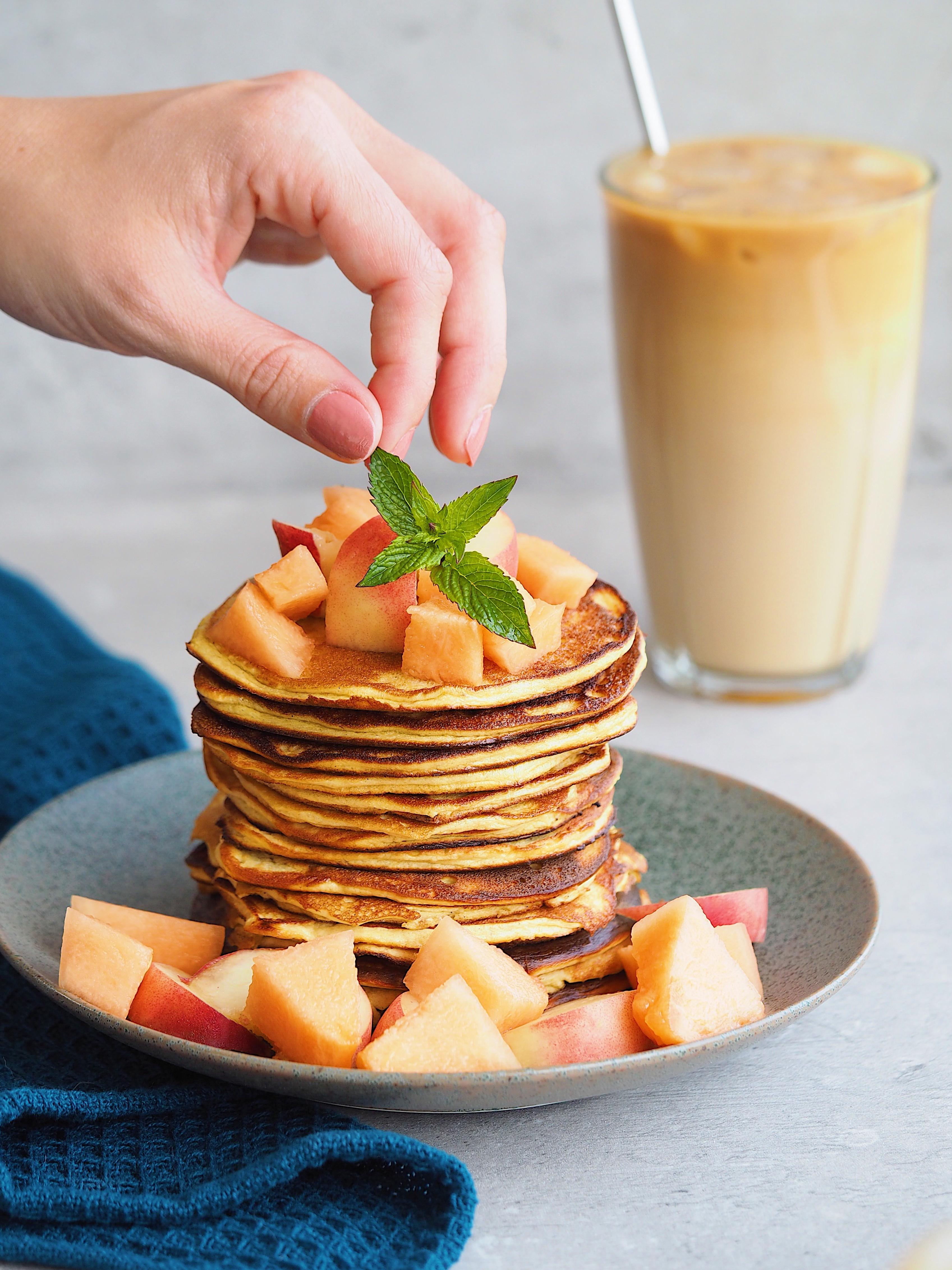 Bananpandekager Mia Lindholm Blogger Lækre Protein Pancakes Svampede Pandekager Kalorielet Morgenmad Blog Opskrift