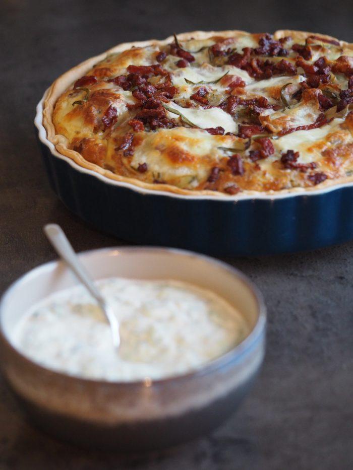 Kartoffel Bacon tærte Madblog Aftensmad Grøntsagstærte Mia Lindholm Mad inspiration