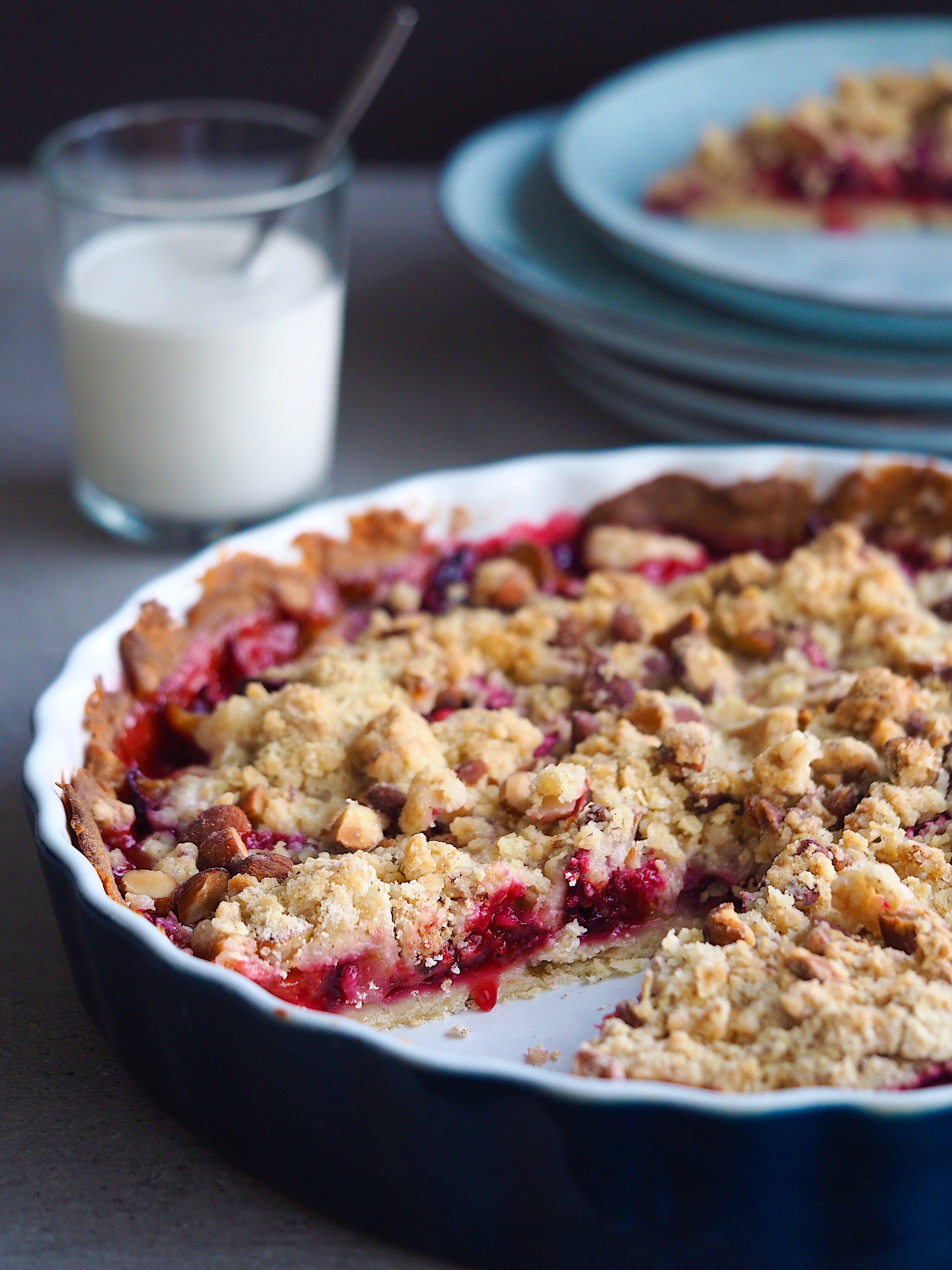 Lækker Blommetærte tærte efterår dessert kage snack snacks efterårshygge blommer opskrift opskrifter blog blogger Mia Lindholm Mad Søde sager