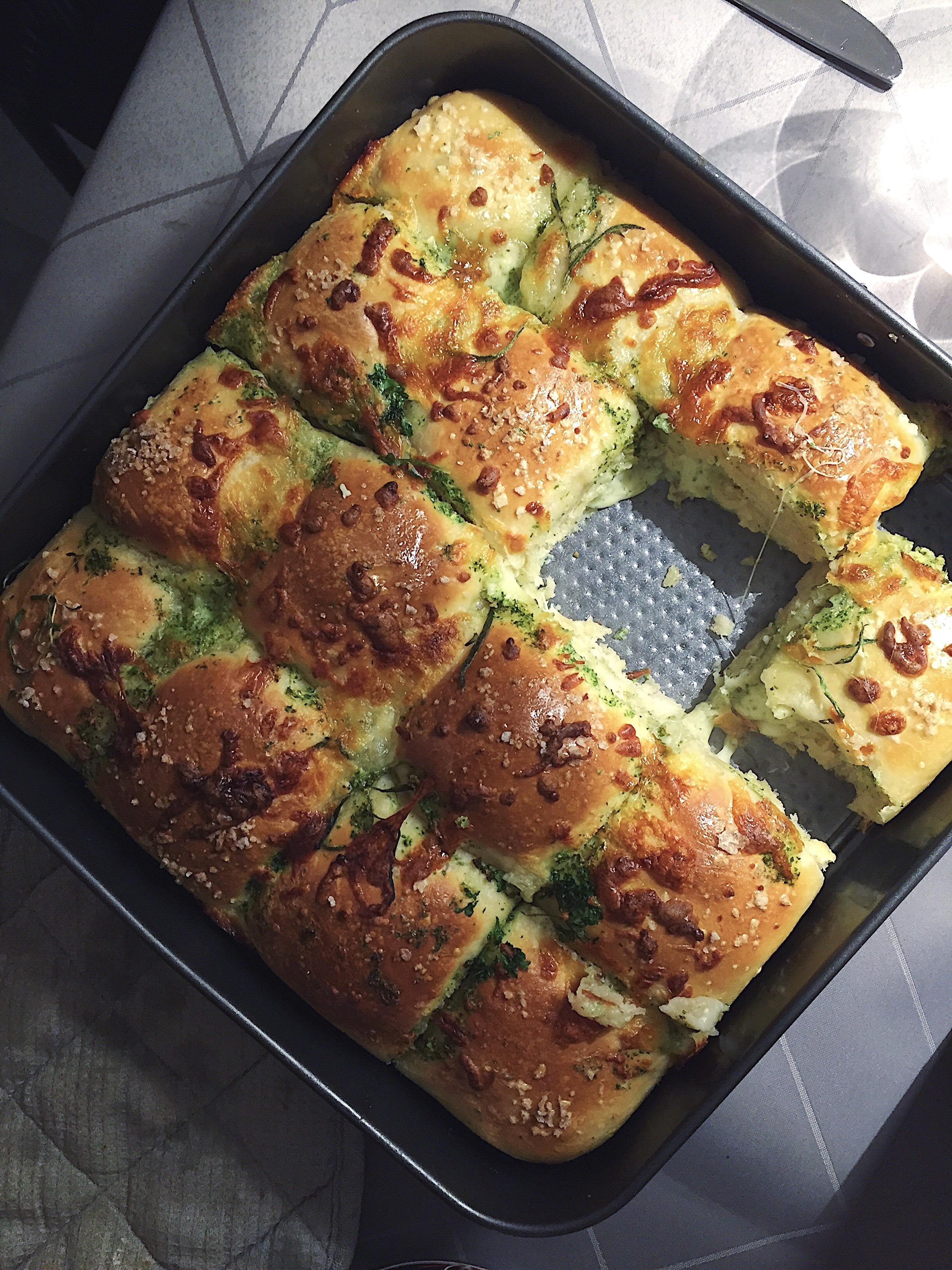Pull apart brød med mozzarella