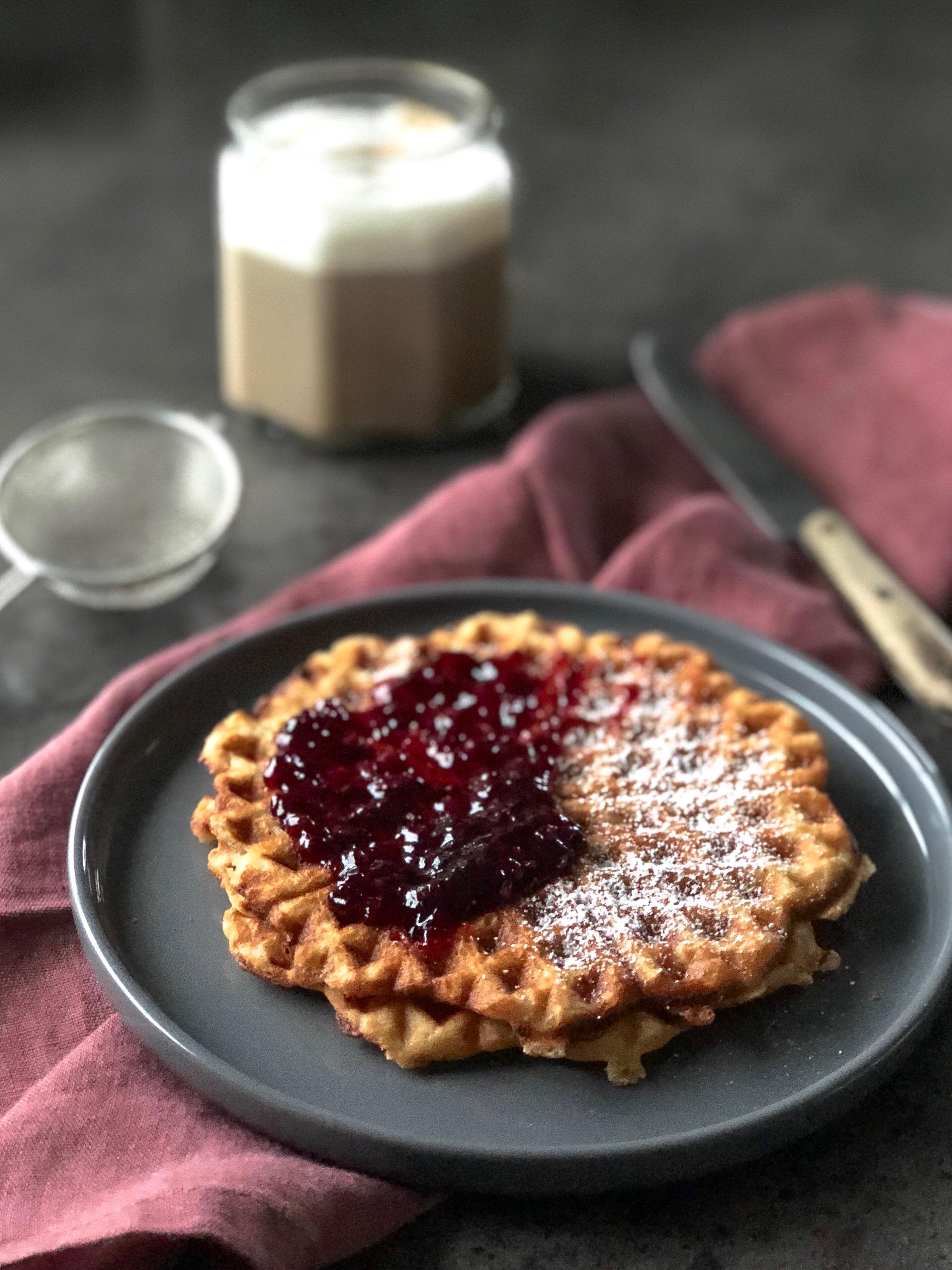 Sprøde vafler med vanilje, Morgenmad, Brunch, Dessert