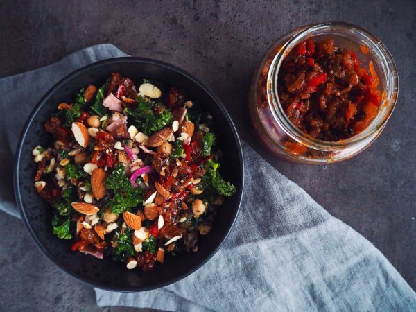 Chutney med rød peberfrugt og løg