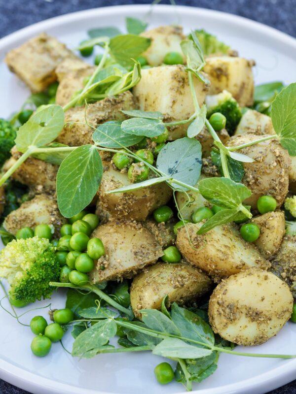 kold kartoffelsalat med pesto