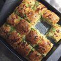 Pull apart brød med hvidløg, krydderurter og mozzarella