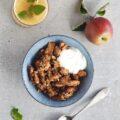 Bagte æbler med kanel, havregryn og nødder | Uden tilsat sukker