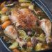 Kylling i stegeso med grøntsager og kartofler